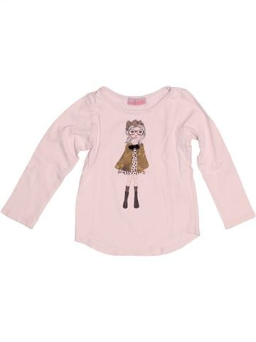 T-shirt manches longues fille LISA ROSE rose 4 ans hiver #1524573_1