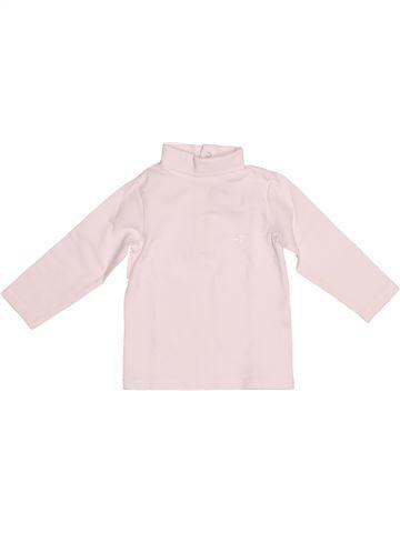 T-shirt col roulé fille CYRILLUS blanc 9 mois hiver #1524751_1