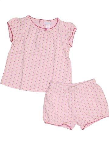 Pyjama 2 pièces fille OKAIDI rose 12 mois été #1524767_1
