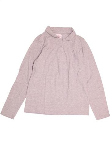 Polo manches longues fille LISA ROSE rose 12 ans hiver #1524819_1
