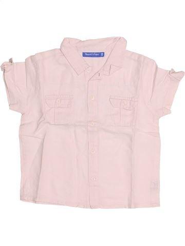 Chemise manches courtes garçon BOUT'CHOU rose 18 mois été #1524912_1