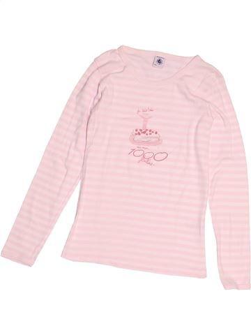 T-shirt manches longues fille PETIT BATEAU rose 10 ans hiver #1525136_1