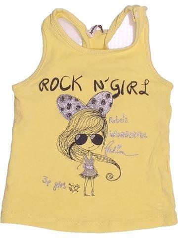 Camiseta sin mangas niña 3 POMMES beige 6 meses verano #1525325_1
