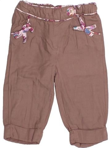 Pantalon fille TAPE À L'OEIL marron 6 mois hiver #1525350_1