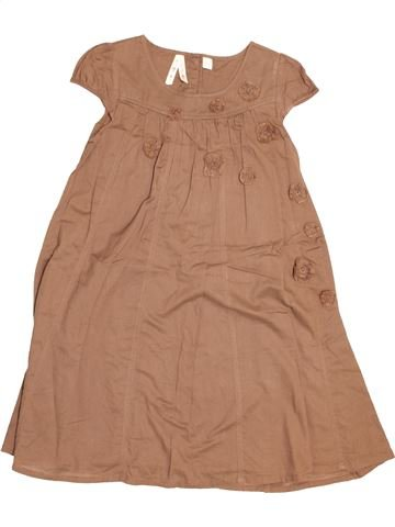 Robe fille OKAIDI marron 6 ans été #1525501_1