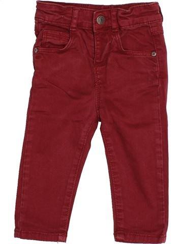 Pantalon garçon TAPE À L'OEIL rouge 12 mois hiver #1526254_1