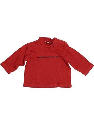 T-shirt col roulé garçon GRAIN DE BLÉ rouge 6 mois hiver #1526949_1