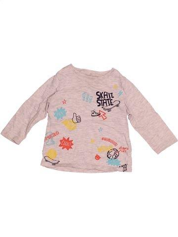 T-shirt manches longues garçon PAT & RIPATON rose 18 mois hiver #1527037_1
