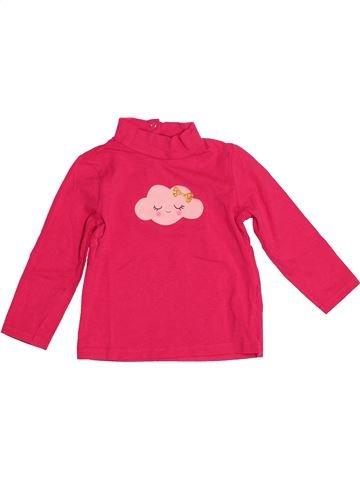 T-shirt manches longues fille DPAM rouge 2 ans hiver #1527114_1