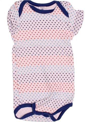 T-shirt manches courtes garçon PETIT BATEAU rose 12 mois été #1527486_1