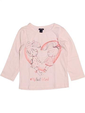 T-shirt manches longues fille KIABI rose 2 ans hiver #1527800_1