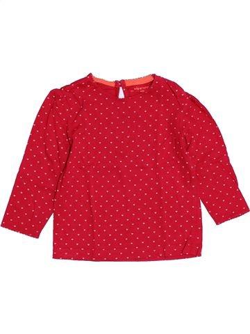 T-shirt manches longues fille KIABI rouge 2 ans hiver #1527811_1