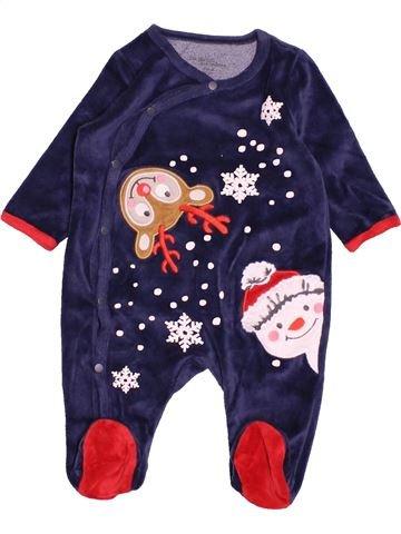 Pyjama 1 pièce garçon DPAM bleu 3 mois hiver #1527934_1