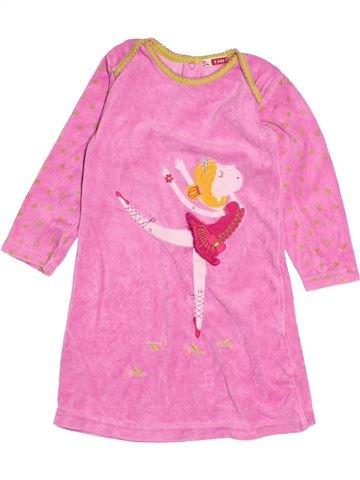Chemise de nuit fille DPA rose 2 ans hiver #1528012_1
