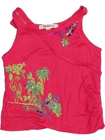 T-shirt sans manches fille KENZO rouge 2 ans été #1528095_1