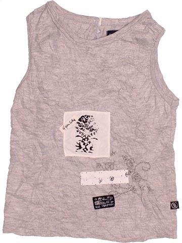 T-shirt sans manches fille JEAN BOURGET gris 2 ans été #1528099_1