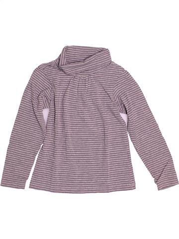 T-shirt col roulé fille KIABI gris 6 ans hiver #1528393_1