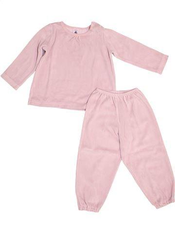 Pyjama 2 pièces fille PETIT BATEAU rose 3 ans hiver #1528534_1