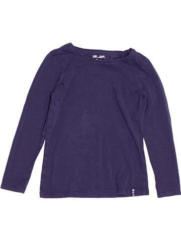 T-shirt manches longues fille DPAM bleu 8 ans hiver #1529388_1