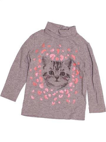 T-shirt col roulé fille KIABI violet 3 ans hiver #1529623_1