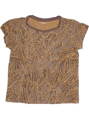T-shirt manches courtes fille MONOPRIX marron 12 ans été #1529625_1