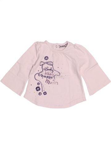 T-shirt manches longues fille TAPE À L'OEIL rose 6 mois hiver #1529665_1