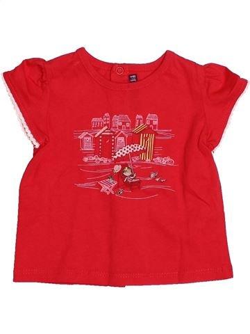 T-shirt manches courtes fille SERGENT MAJOR rouge 3 mois été #1529807_1