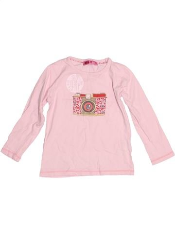 T-shirt manches longues fille KIABI rose 4 ans hiver #1530029_1