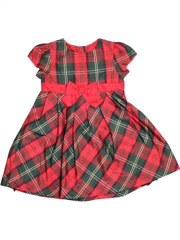 Robe fille GEORGE rouge 3 ans été #1530175_1