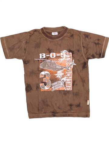 T-shirt manches courtes garçon X-MAIL marron 8 ans été #1530645_1