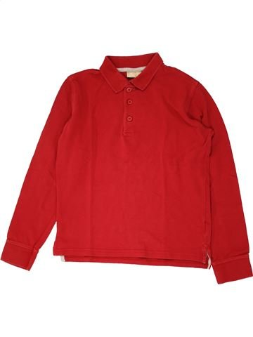 Polo manches longues garçon DPAM rouge 12 ans hiver #1532143_1