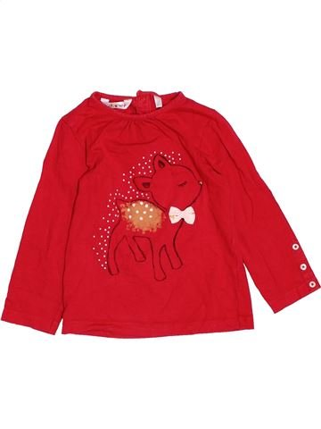 Camiseta de manga larga niña KIABI rojo 3 años invierno #1532281_1