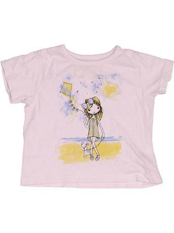 T-shirt manches courtes fille PEP&CO blanc 12 mois été #1533580_1
