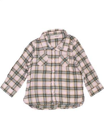 Chemise manches longues garçon TAPE À L'OEIL blanc 2 ans hiver #1533903_1