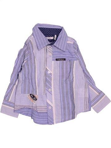 Chemise manches longues garçon IKKS violet 12 mois hiver #1534957_1