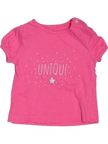 T-shirt manches courtes fille KIABI rose 1 mois été #1535460_1