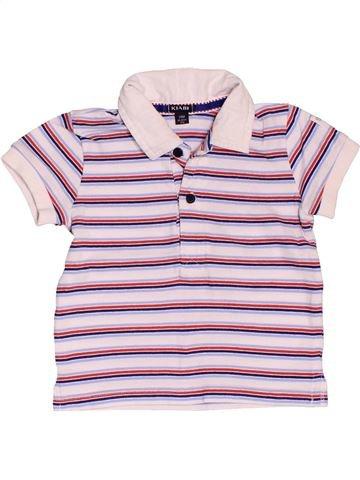 Polo manches courtes garçon KIABI blanc 2 ans été #1535639_1