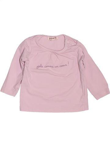 T-shirt manches longues fille GRAIN DE BLÉ rose 6 mois hiver #1535706_1