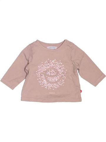 T-shirt manches longues fille OBAIBI rose 3 mois hiver #1535842_1