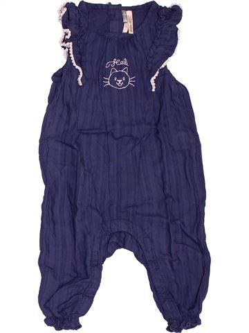 Combinaison longue fille ORCHESTRA bleu 6 mois été #1536108_1