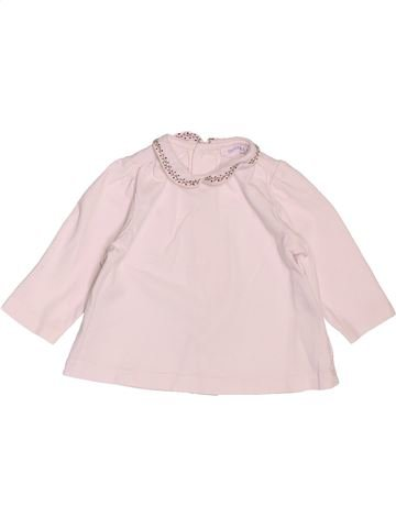 T-shirt manches longues fille BOUT'CHOU rose 6 mois hiver #1536267_1