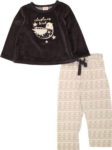 Pyjama 2 pièces fille TAPE À L'OEIL bleu 2 ans hiver #1536325_1
