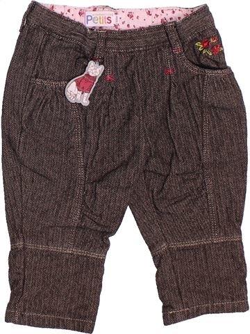 Pantalon fille LA COMPAGNIE DES PETITS marron 12 mois hiver #1536406_1