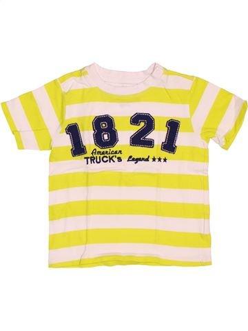 T-shirt manches courtes garçon 3 SUISSES blanc 2 ans été #1536598_1