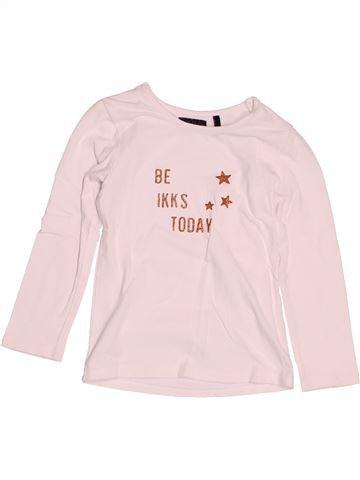 T-shirt manches longues fille IKKS blanc 3 ans hiver #1536664_1