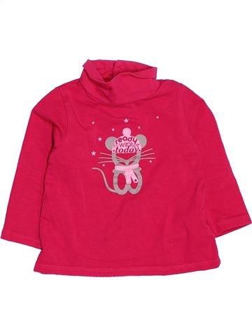T-shirt col roulé fille OKAIDI rose 12 mois hiver #1536873_1