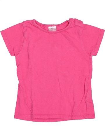 Camiseta de manga corta niña DOMYOS rosa 2 años verano #1536885_1