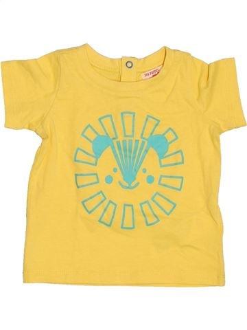 T-shirt manches courtes garçon DPAM jaune 9 mois été #1537001_1