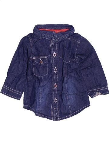 Chemise manches longues garçon TAPE À L'OEIL bleu 3 mois hiver #1537020_1