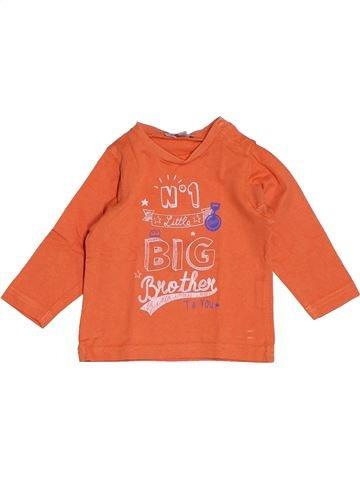 T-shirt manches longues garçon GRAIN DE BLÉ orange 6 mois hiver #1538565_1